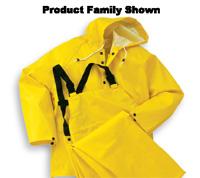 Bata/Onguard 3X Yellow Webtex .65mm Ribbed PVC On Polyester Webtex Rain Bib Overalls With Plain Front