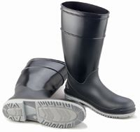 "Bata/Onguard Size 9 16"" Black And Gray Apollo XCP Goliath PVC Steel Toe Boots With Lugged Sole"