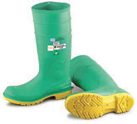 """Bata/Onguard Size 10 16"""" Hazmax+ Steel Toe And Steel Midsole Kneeboots With Ultragrip+ Sipe Sole And Green Patch"""