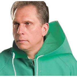 Bata/Onguard One Size Fits All  Green Chemtex 3.5 mil PVC On Nylon Polyester Chemical Protection Hood