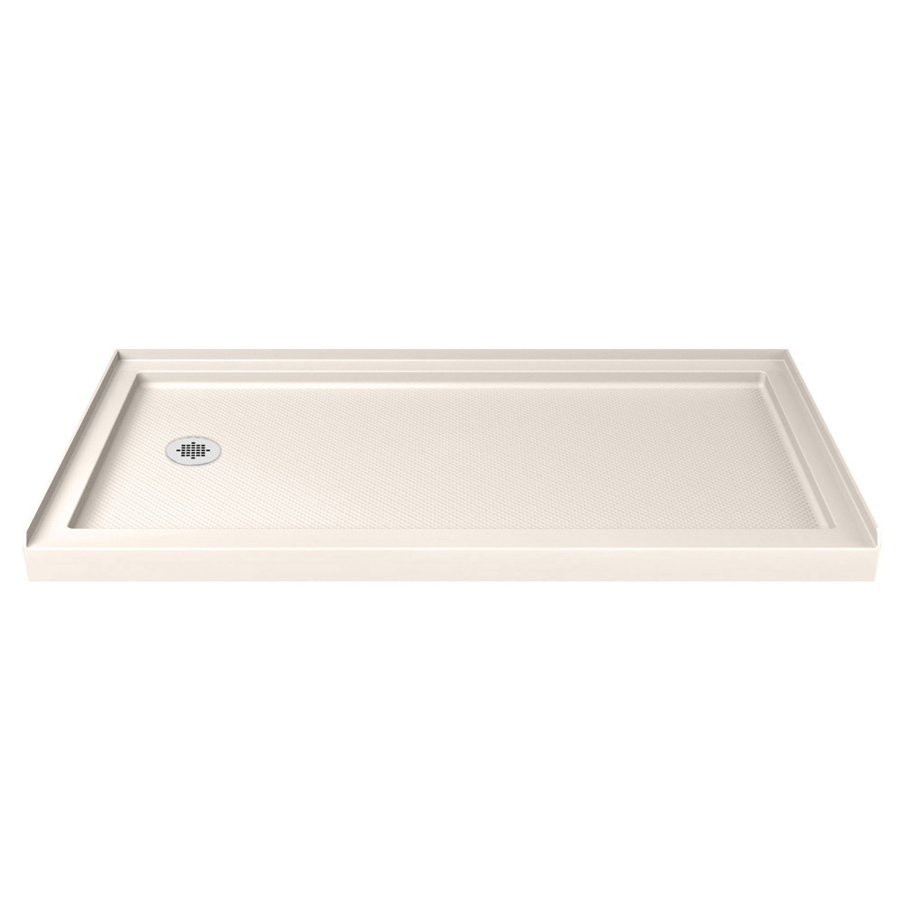 DreamLine SlimLine 34 in. D x 60 in. W x 2 3/4 in. H Center Drain Single Threshold Shower Base in White