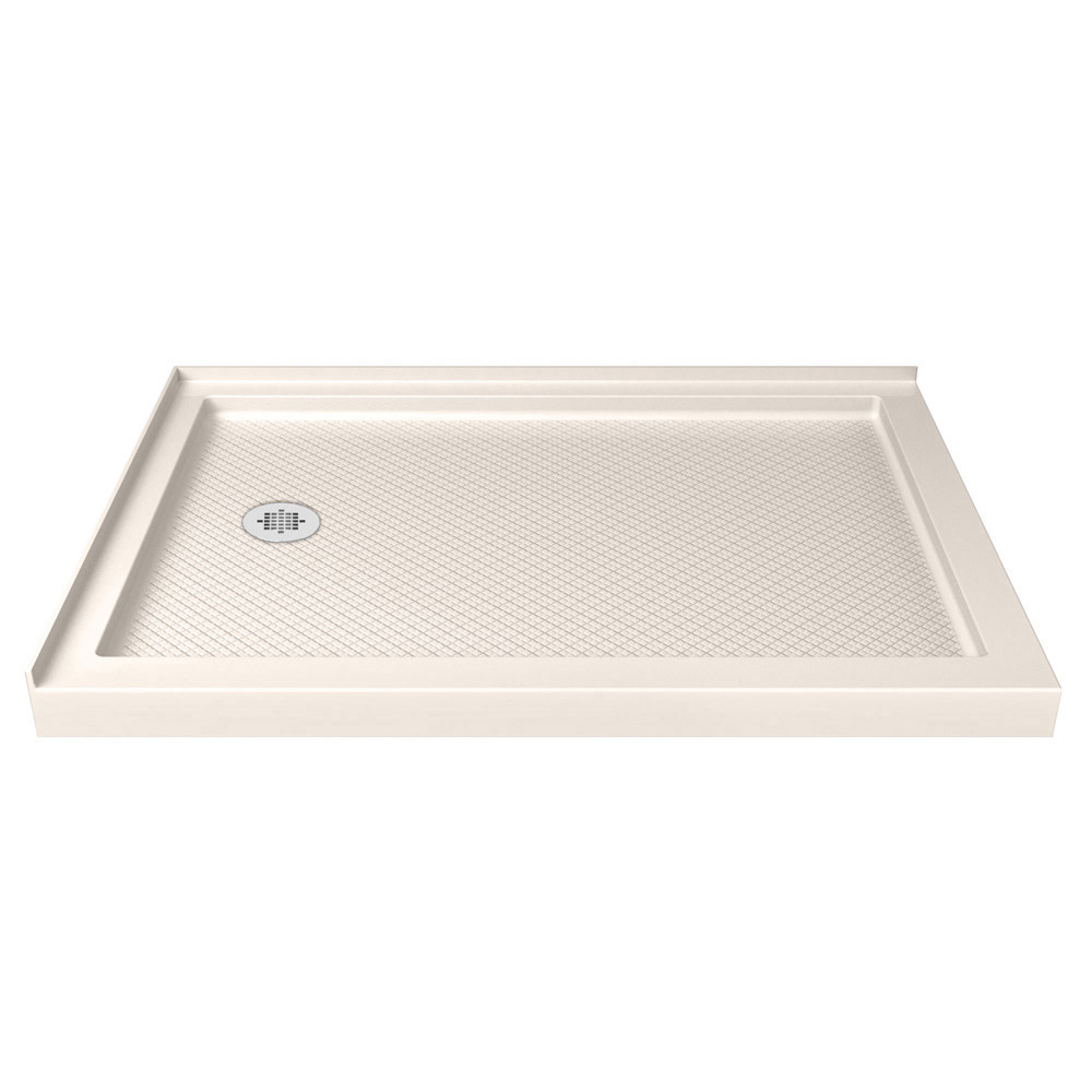 DreamLine SlimLine 36 in. by 60 in. Double Threshold Shower Base in Biscuit Color Left Hand Drain
