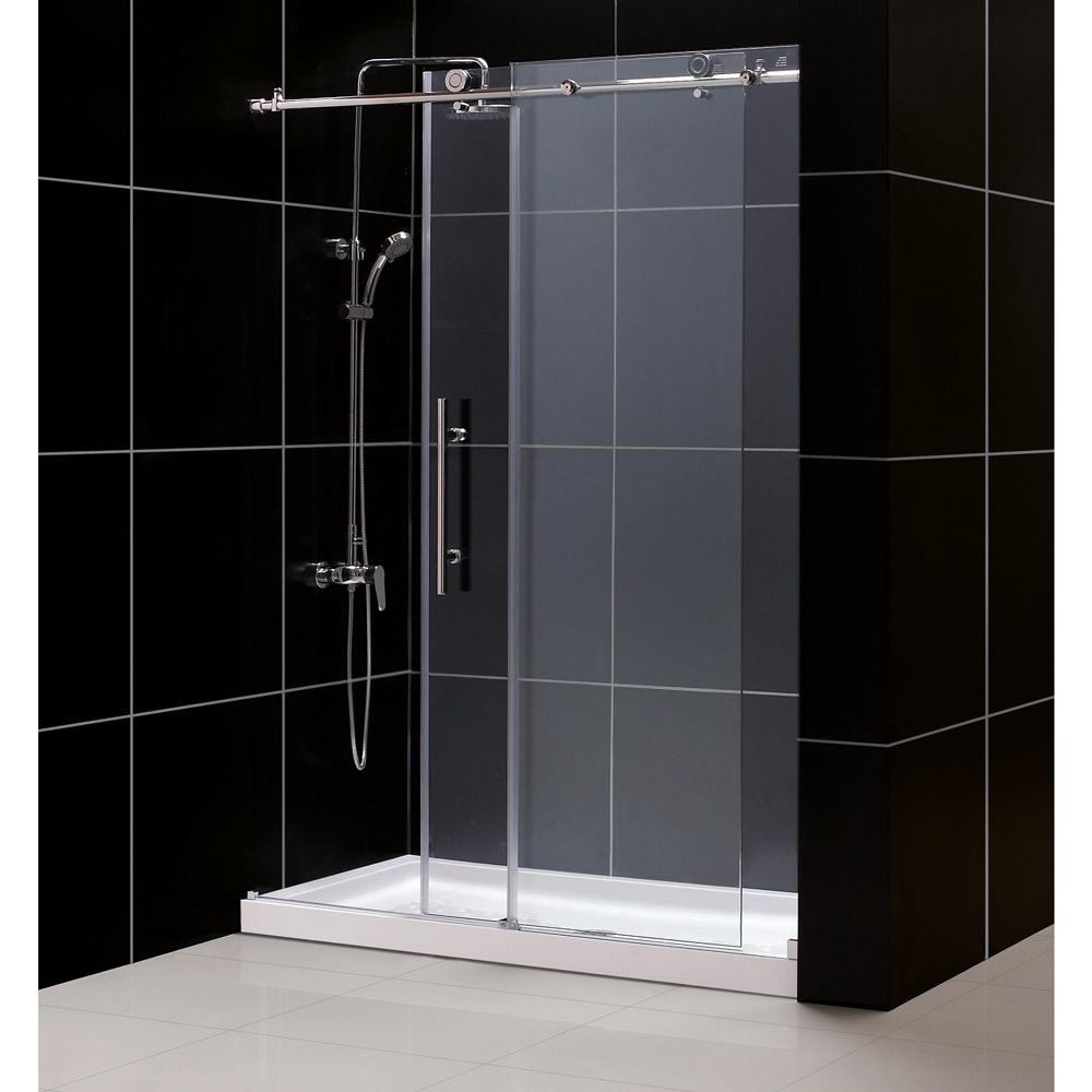 Dreamline Enigma-X Fully Frameless Sliding Shower Door & SlimLine 32