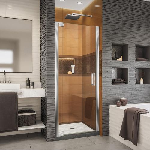 DreamLine Elegance-LS 32 1/4 - 34 1/4 in. W x 72 in. H Frameless Pivot Shower Door in Chrome
