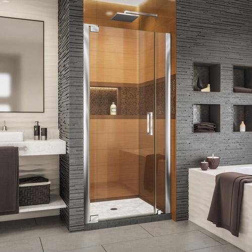 DreamLine Elegance-LS 36 1/4 - 38 1/4 in. W x 72 in. H Frameless Pivot Shower Door in Chrome