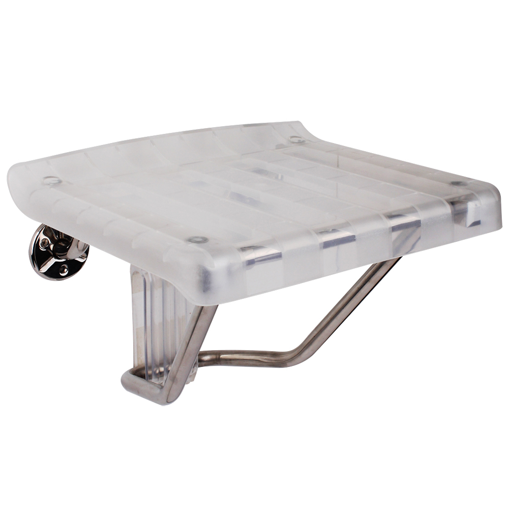 DreamLine® Plastic Folding Shower Seat, Chrome