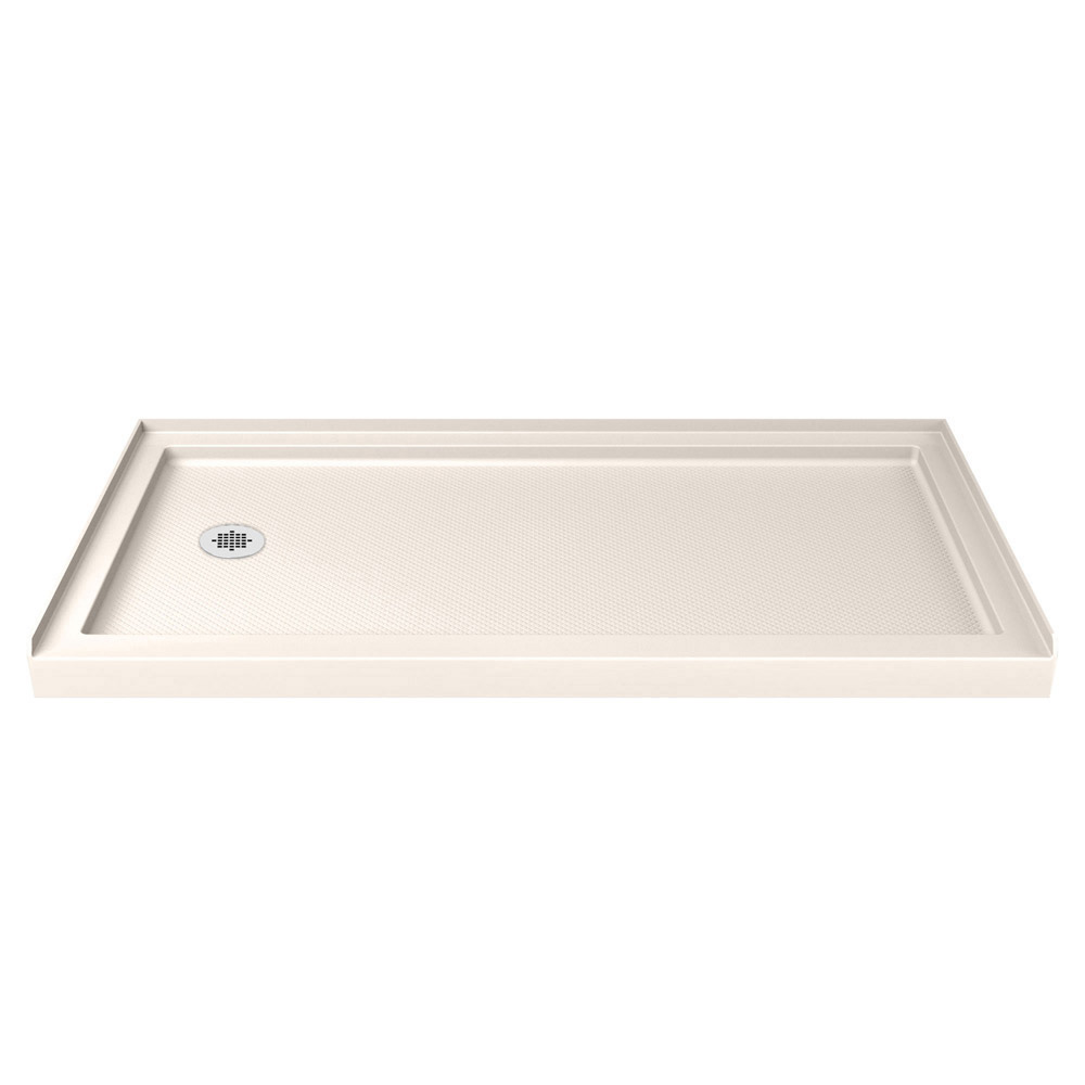 DreamLine SlimLine 36 in. by 60 in. Single Threshold Shower Base in Biscuit Color Left Hand Drain