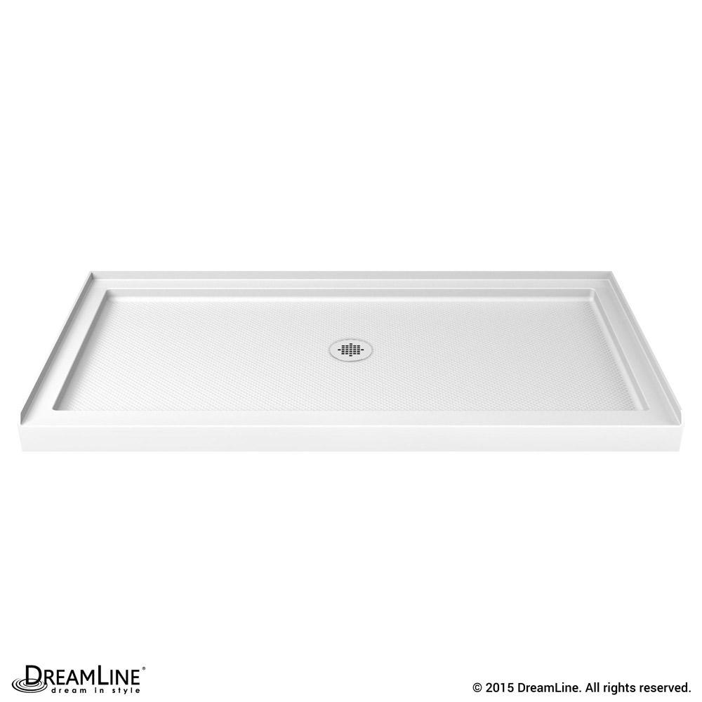 DreamLine SlimLine 32 in. by 60 in. Single Threshold Shower Base Center Drain