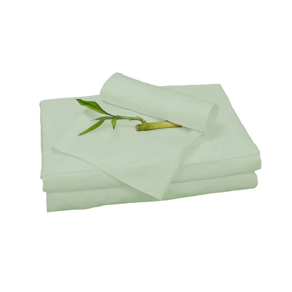 Bedvoyage Home Hotel Decorative Bedding Accessories Sheet Set - Cal King - Sage