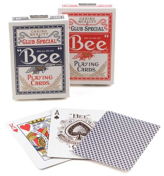 Bee Poker, Standard Index, 12 Decks Red/Blue