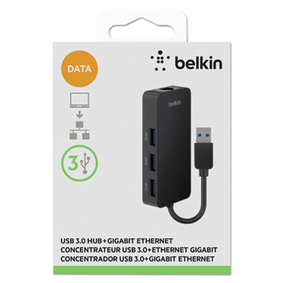 3 Port USB Hub w Ethernet Adapter