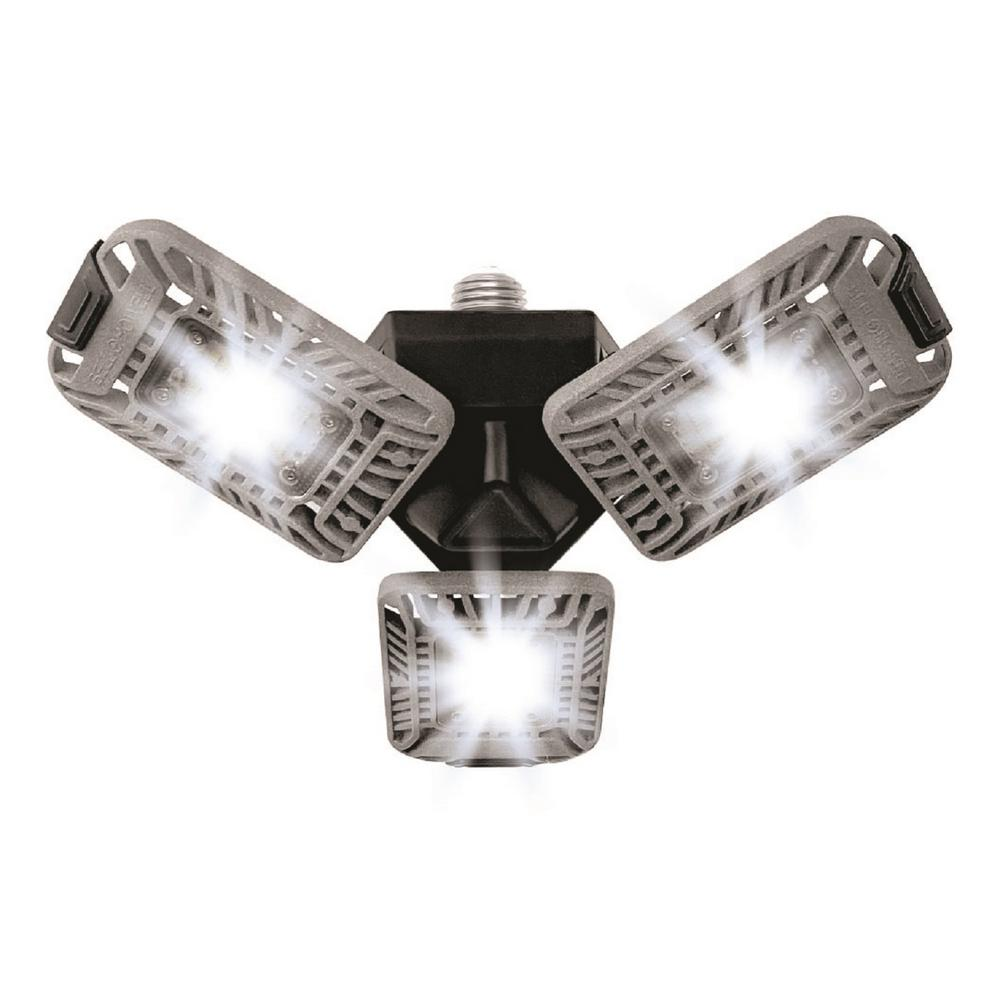 Bell+Howell TRI Burst High Intensity Lighting with 144 LED Bulb, Multi-Directional Triple Panel Light for Indoor and Outdoor