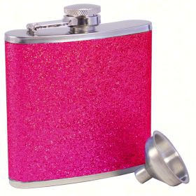 AF6 Glitter Pink Stainless Steel Flask