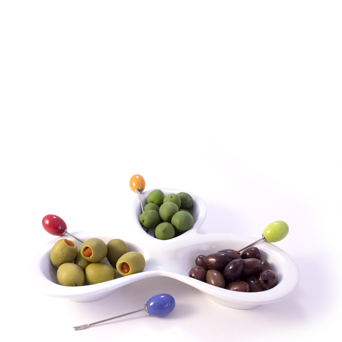 AK Olive Trio - Sets of Serving Bowls with Picks