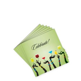 Cocktail Napkins - Celebrate - Green (20 per pack)