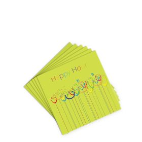 Cocktail Napkin - Happy Hour - Green - (20 per pack)