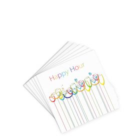 Cocktail Napkins - Happy Hour - White - (20 per pack)