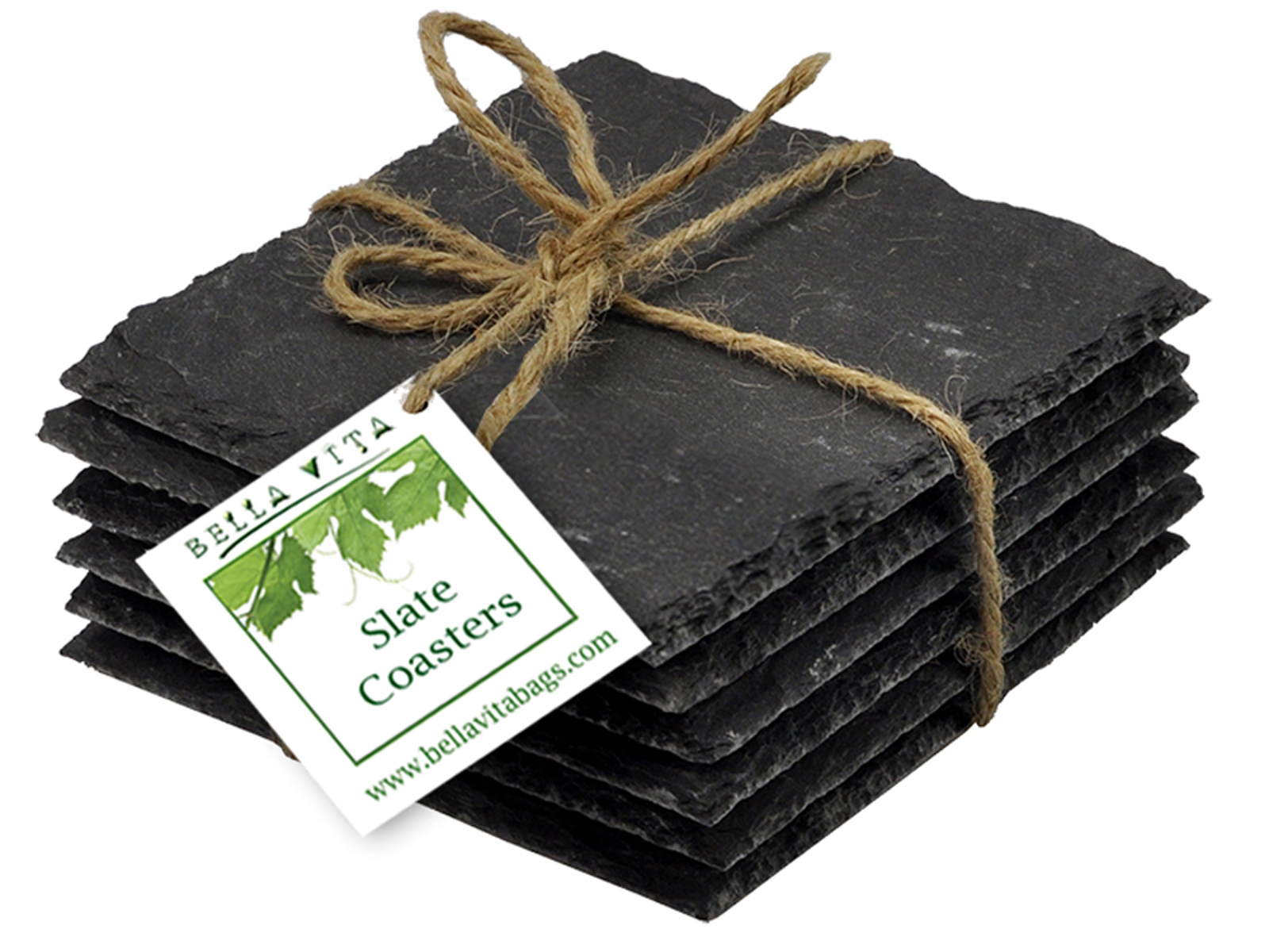 AWC Slate - Sets of Slate Coasters with Chalk