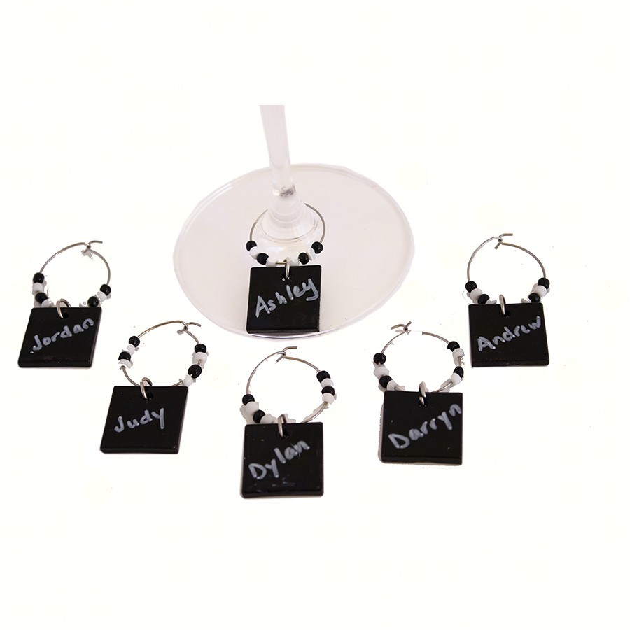AWM DIY Black Art Glass Markers (Set of 6)