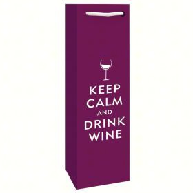 Printed Paper Single Wine Bag - Drink Wine