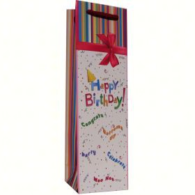 Krated Paper Single Wine Bag - Party