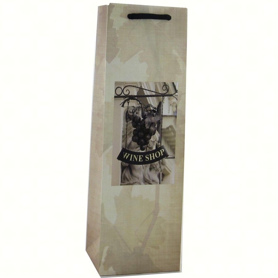 Printed Paper Single Wine Bag - Wine Shop
