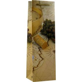 Printed Paper Single Wine Bag - Wine Trail