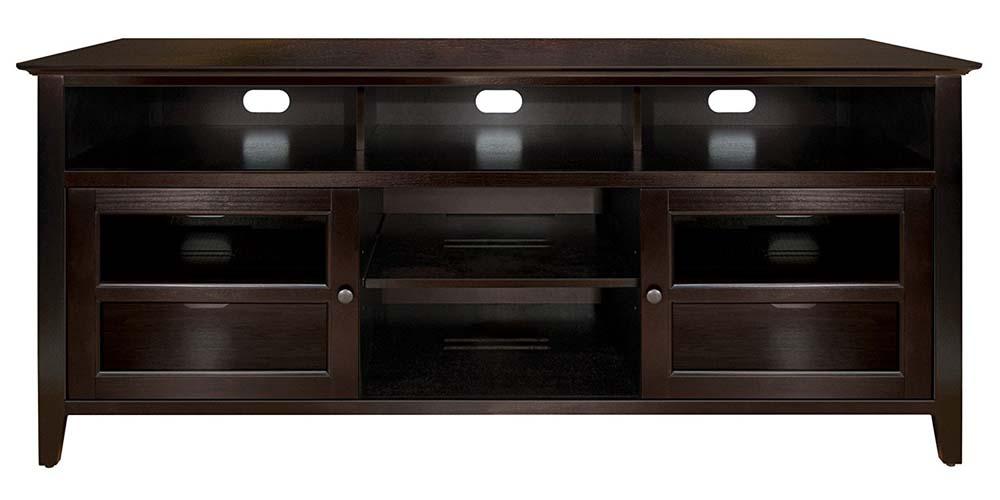 BellO Wood AV Cabinet Espresso Finish
