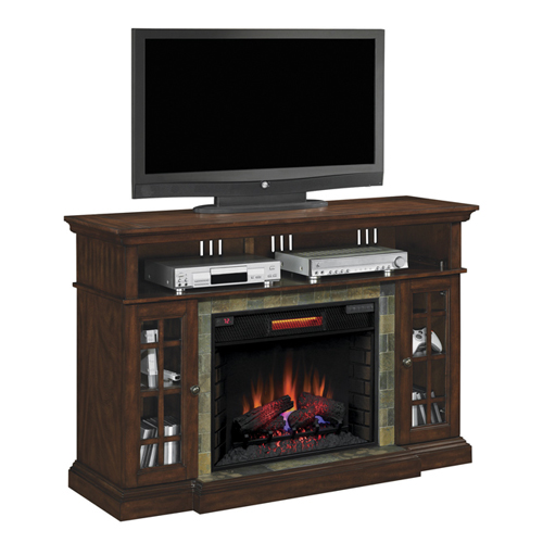 Bell'O Media Mantel-Fireplace AV Stand