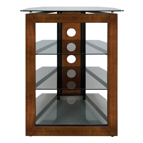 BellO No Tools AV Tower Wood-Glass