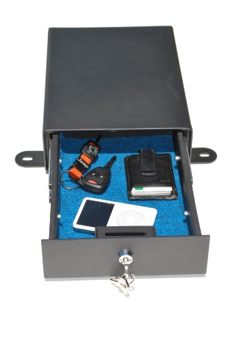 Under Seat Locking Storage Security Box in Black