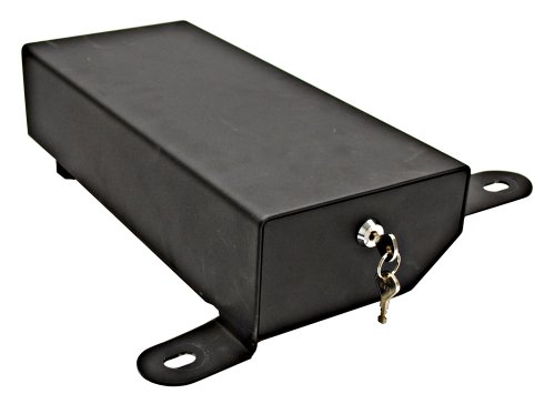 Underseat Locking Storage Security Box in Black