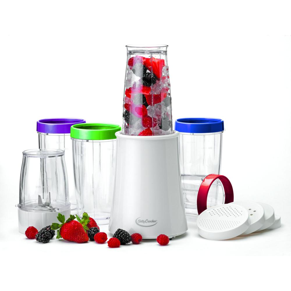 Betty Crocker 17 Piece Blaster Blender with 2 Blades and 6 Blending Jars