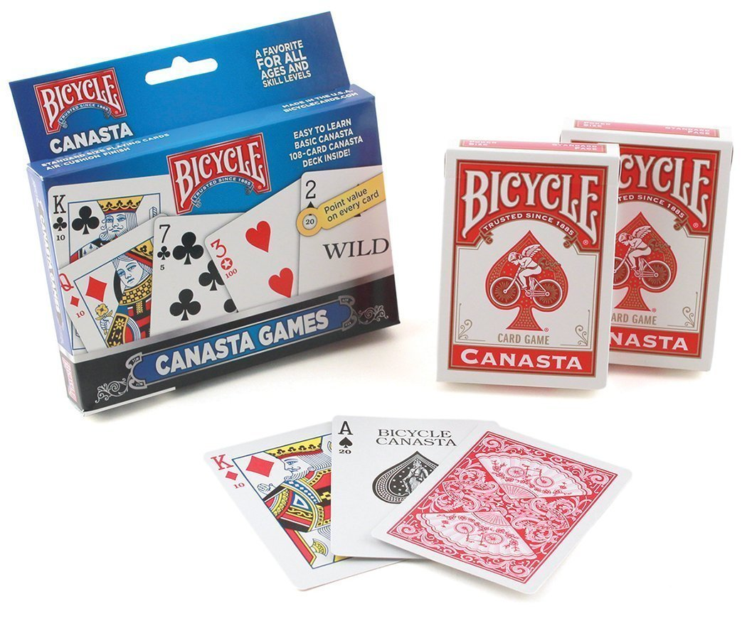 Bicycle Canasta Set, 6 Decks