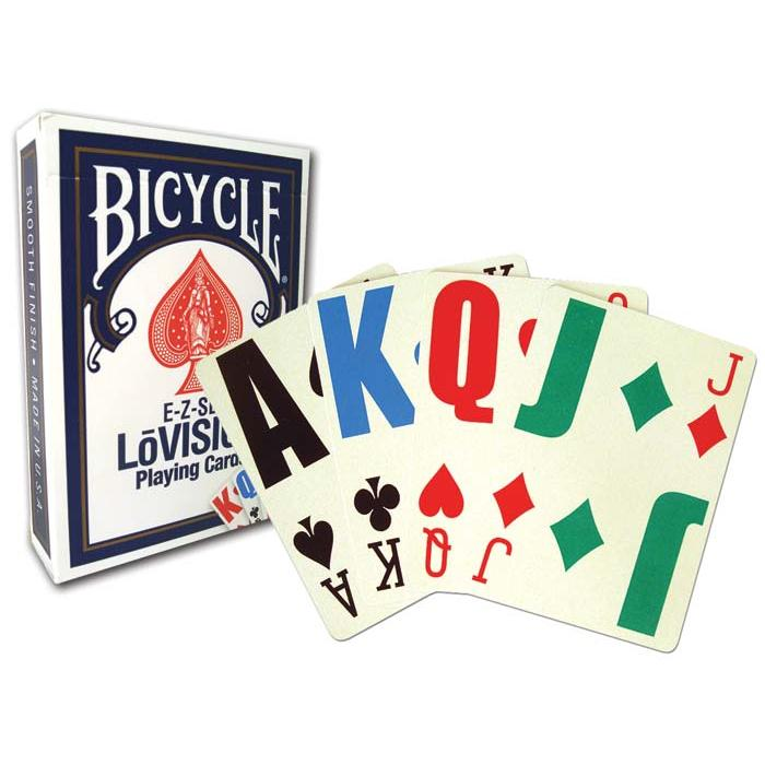 Bicycle EZ See Lo-Vision, 12 Decks Red/Blue