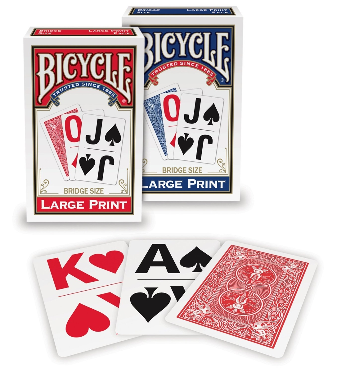 Bicycle Bridge, Large Print, 12 Decks Red/Blue