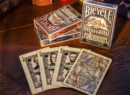 Bicycle US Presidents, 6 Decks Red/Blue