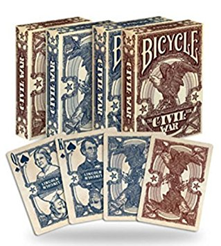 Bicycle Civil War, 6 Decks Red/Blue