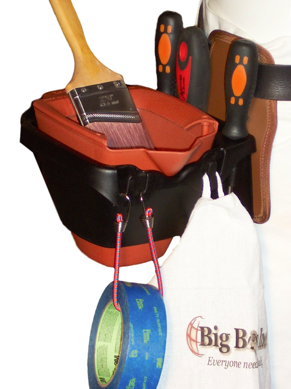 Big Boy Ind. 5210 belt attached Paint Bucket Holder with Dripless Paint Pail