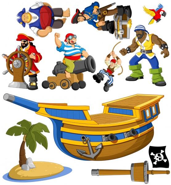 Biggies Wall Stickies - Pirates