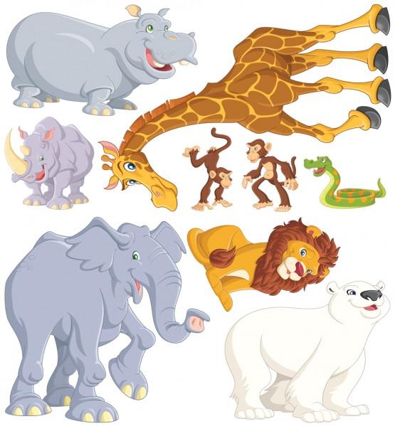 Biggies Wall Stickies - Zoo Animals