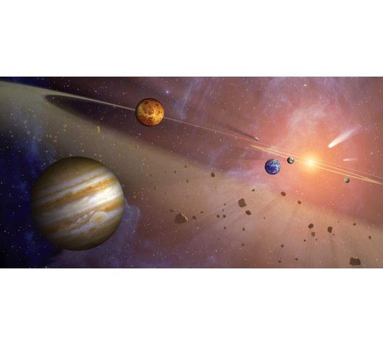 Biggies Space Murals - Asteroid Belt - Medium