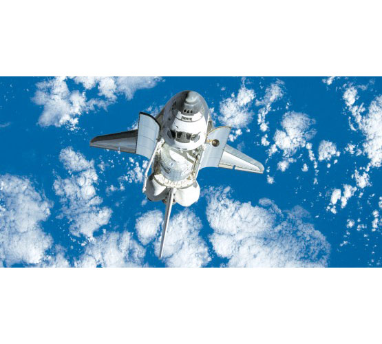 Biggies Space Murals - Space Shuttle - Extra Large