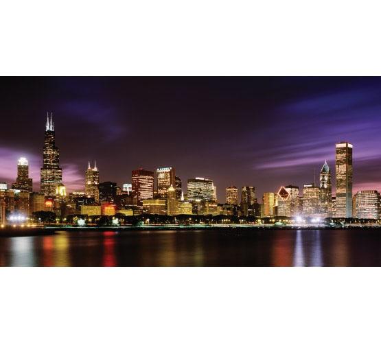 Biggies Wall Mural - Chicago Skyline - Large
