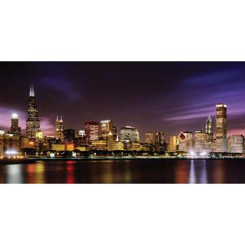 Biggies Wall Mural - Chicago Skyline - Extra Large