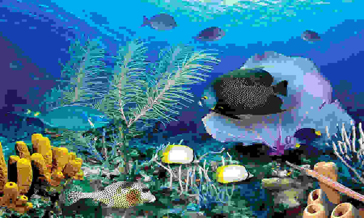 Biggies Wall Mural - Ocean Reef - Extra Large