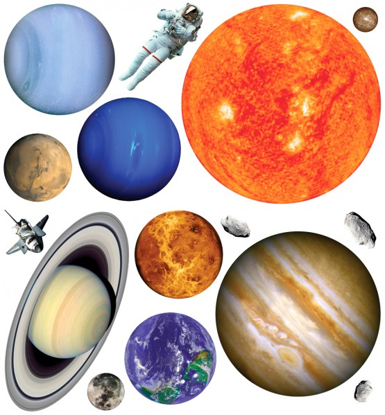 Biggies Wall Stickies - Planets