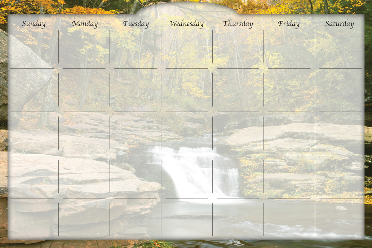 Biggies - Dry Erase Stickie Monthly Calendar-River Falls
