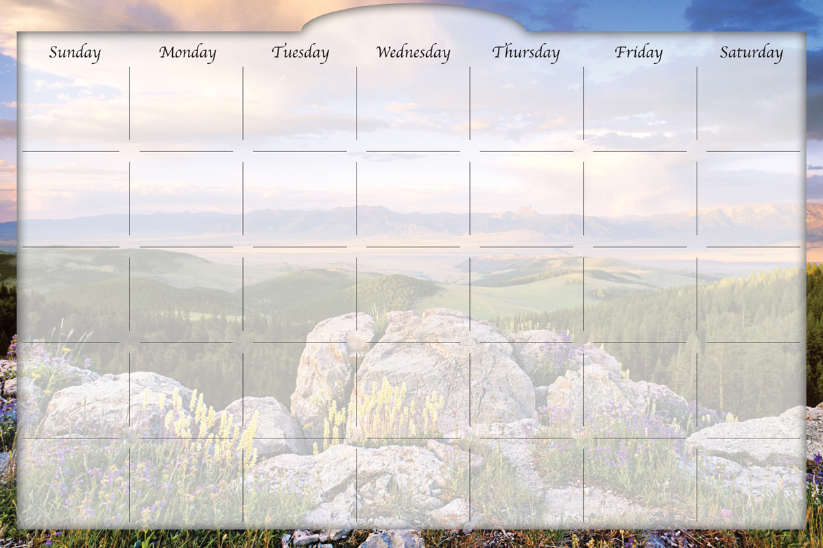 Biggies - Dry Erase Stickie Monthly Calendar-Sunrise Valley