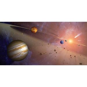 Biggies Space Murals - Asteroid Belt - Extra Large